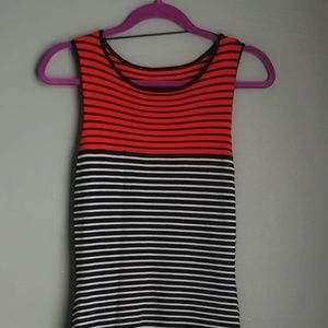 Metaphor Striped Knee Length Dress